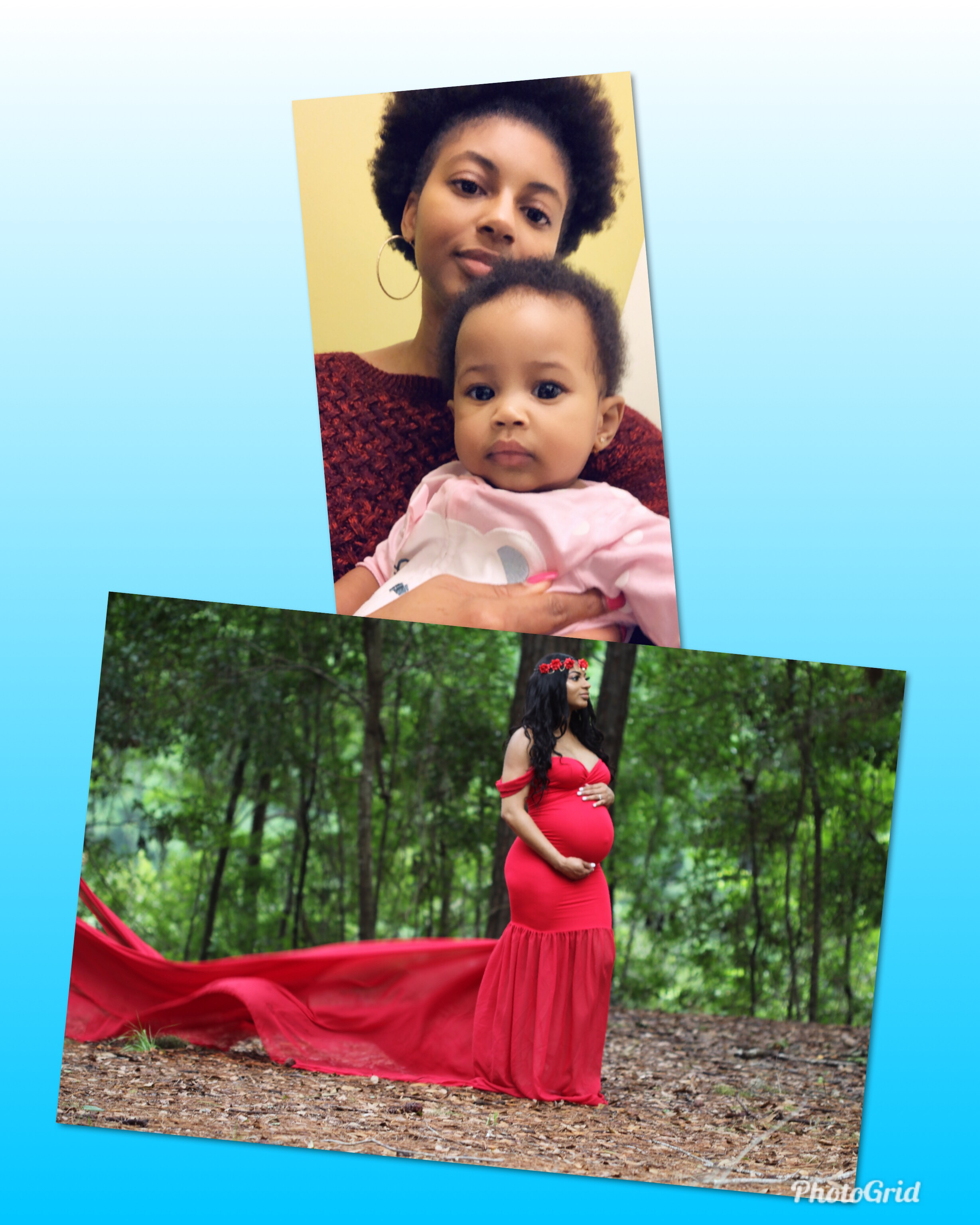 Jaybria Hunter with 7 month old daughter Rona